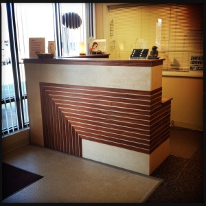 Relax and Rejuvenate reception desk